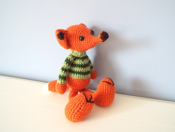 Handmade crochet fox toy Amigurumi Dolls Crochet animals Kids Home decor Baby and toddler Stuffed fox Art and collectibles Gift ideas Fox
