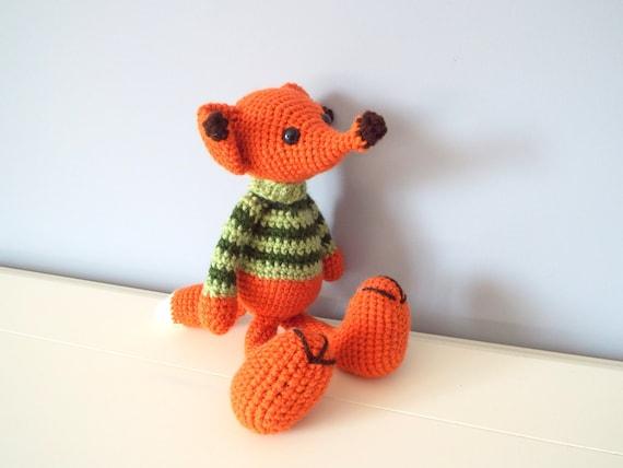 Handmade crochet fox toy Amigurumi Dolls Crochet animals Kids Home decor Baby and toddler Stuffed fox Art and collectibles Gift ideas Fox
