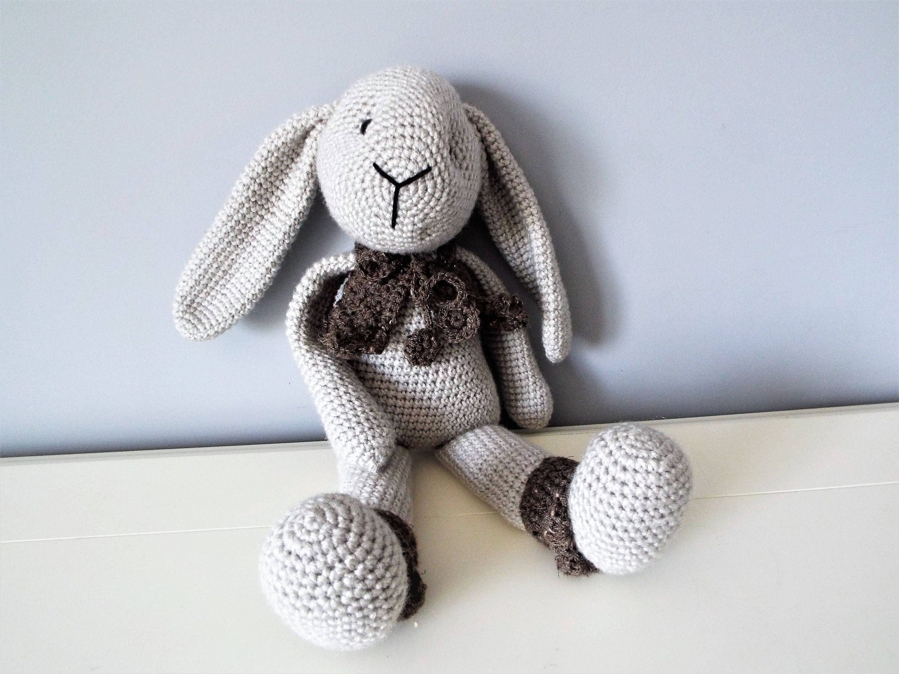 Crochet Long Ear Bunny Amigurumi Free Pattern DIY Magazine | 2250x3000