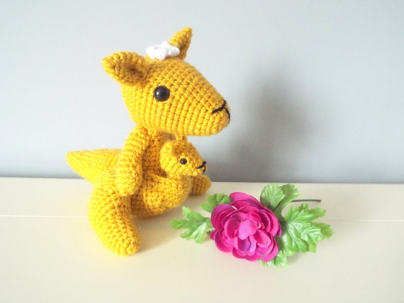 Crochet Kangaroo toy doll Kangaroo family Amigurumi kangaroo Mother's day gift Kids toys Crochet animals Gift ideas Home decor Kangaroo doll