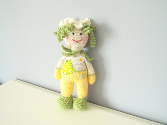 Handmade crochet doll toy Natural Baby Product doll Home decor Kids toys Amigurumi Knitted art doll Stuffed crochet toy Gift for girl