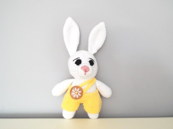 Crochet rabbit bunny Amigurumi Dolls Kids Home decor Baby shower Gift ideas Boys girls White bunny Handmade toys Cute rabbit Soft doll