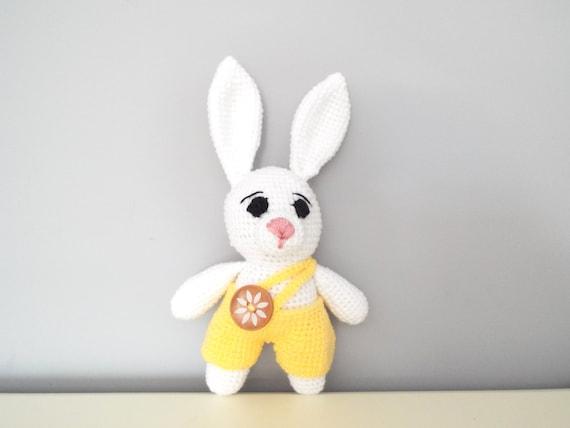 Crochet rabbit bunny Amigurumi Dolls Kids Home decor Baby shower Gift ideas Boys girls White bunny Handmade toys Cute rabbit Soft doll
