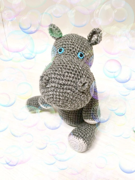 Crochet amigurumi Hippo Crochet gray colored Hippopotamus Gift for kids Home decor Boys Girls Soft cute Hippo Baby shower gift kids decor