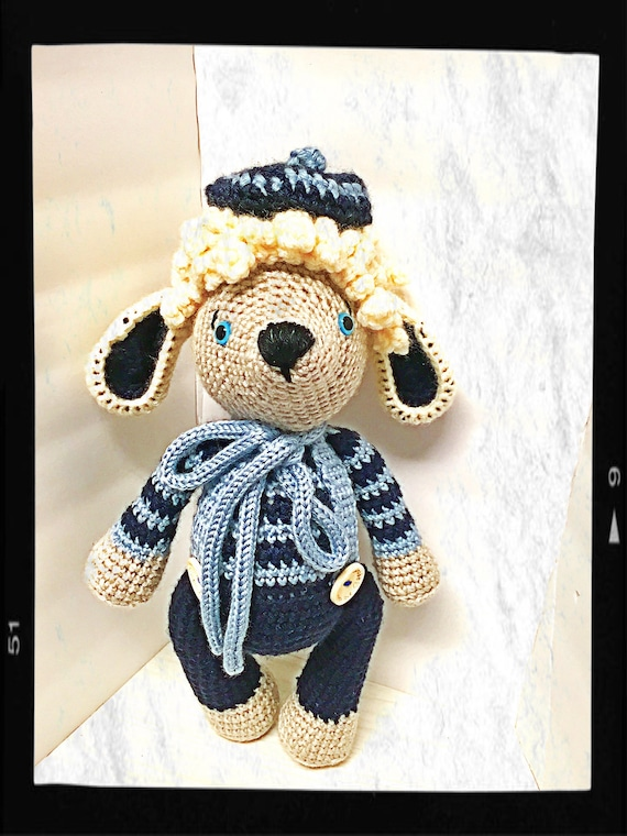 Crochet lamb boy amigurumi kids gift idea room decor home decor blue lamb  baby shower  girls boys interior design dolls collectible dolls