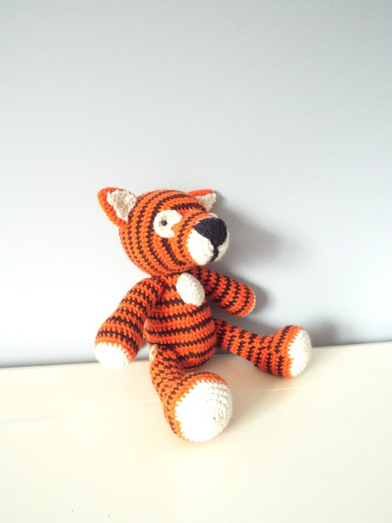 Crochet tiger doll toy Amigurumi Tiger stuffed animal Kids toys Baby Home decor Crochet animals Gift ideas Plush Wild animals Boys