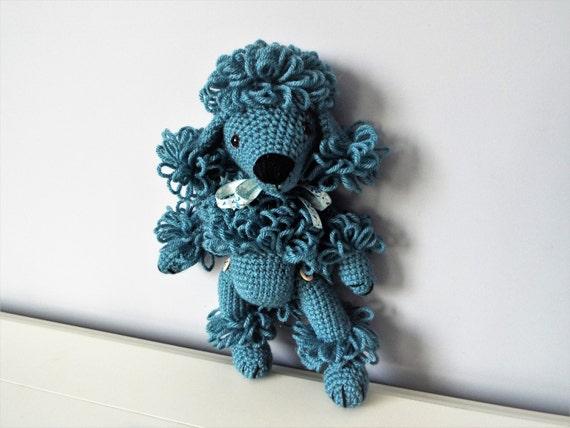 Blue poodle puppy Crochet poodle Amigurumi puppy dog Home decor Kids Boys Girls  Baby shower Gift idea Crochet animals Dolls Knitted dog