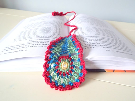 Handmade crochet  bookmark paisley small giftables gift ideas home decor crochet art crochet gifts men women decorations keepsakes heirloom