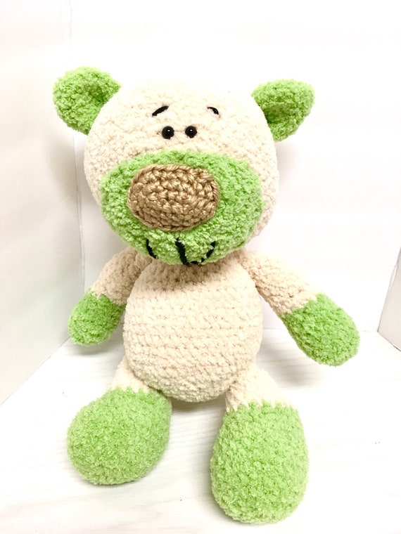 Crochet amigurumi Teddy bear Very plushie soft and unique gift idea for kids home decor baby shower cute dolls handmade Teddy