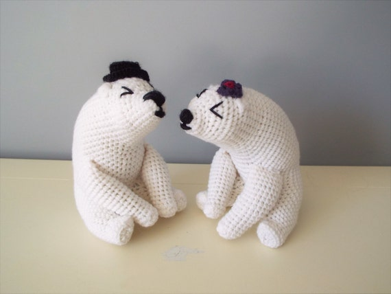 Crochet polar bears amigurumi home decor kids boys girls gift ideas baby shower bear family gift for her him handmade knitted toy teddy bear