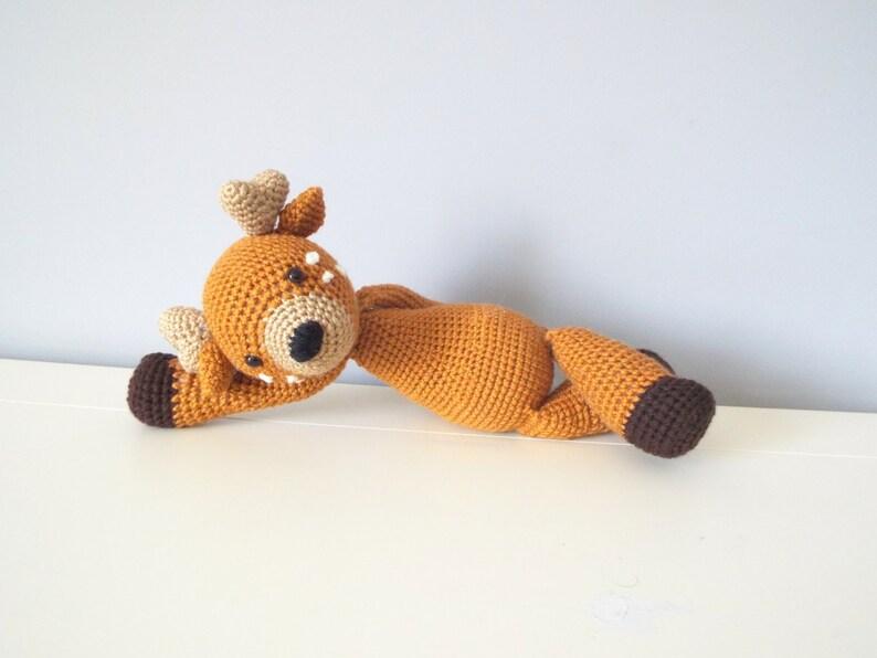 Uncinetto A Mano Cervo Amigurumi Cute Morbida Animali Casa Etsy