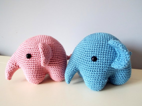 Soft elephant Amigurumi Toys Dolls Gift Ideas Home decor Crochet elephant Baby shower Stuffed elephant Boys Girls Handmade elephant Cute toy