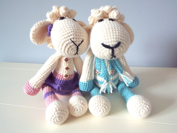 Crochet lamb sheep Amigurumi Stuffed animal Home decor Kids toys Crochet art dolls Gifts Toys Baby shower Collectible doll Made to order