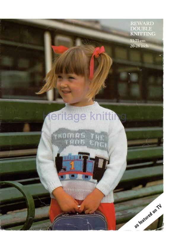 Thomas The Tank Engine Sweater Dk Knitting Pattern 99p Pdf