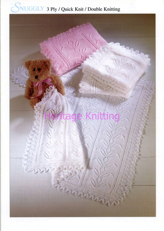 df76e192732d baby shawls dk and 3 ply knitting pattern 99p