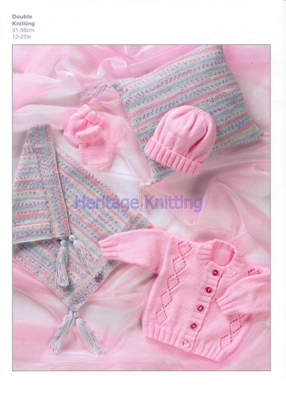 f940b04e286a Baby pram set dk knitting pattern 99p