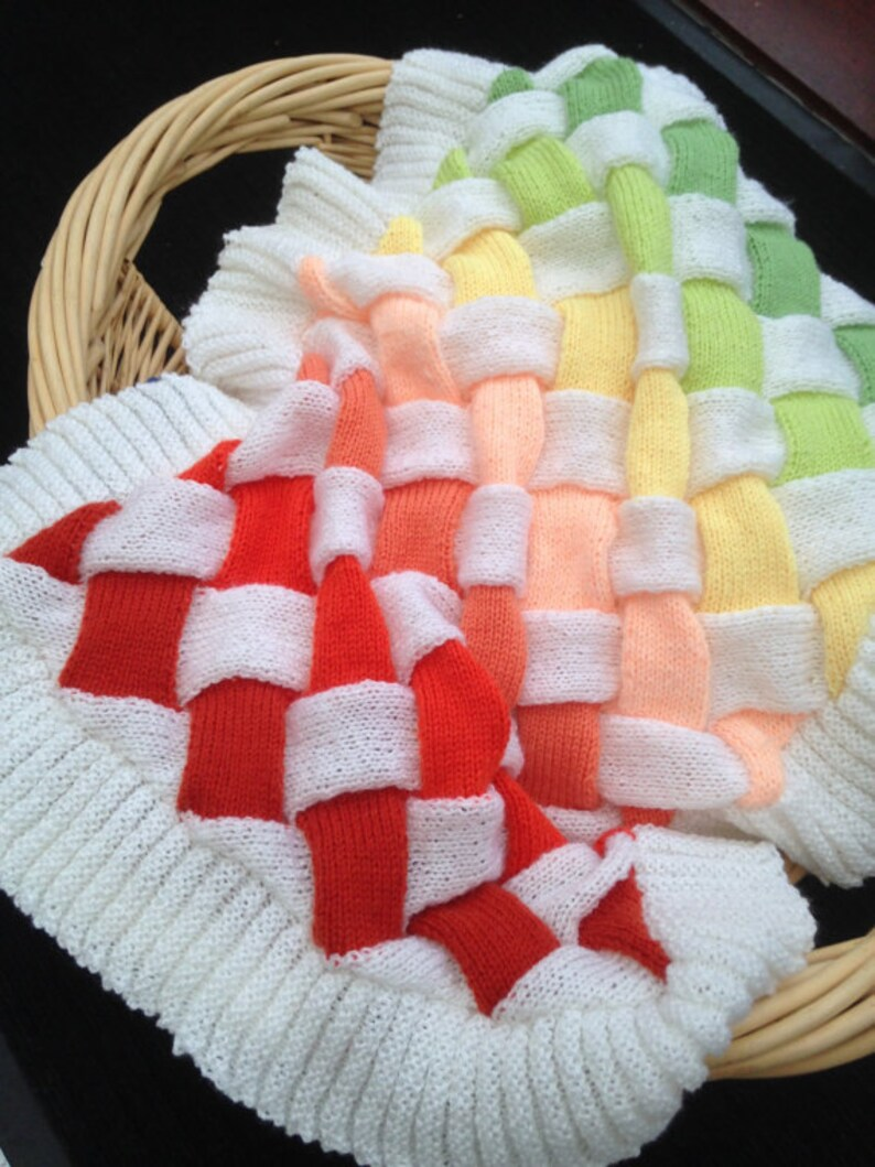 5dcf838c83b7 Baby PDF Blanket Entrelac Knitting Pattern Suitable for Pram