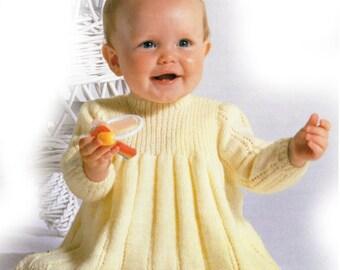 babys dress 4 ply knitting pattern 99p pdf