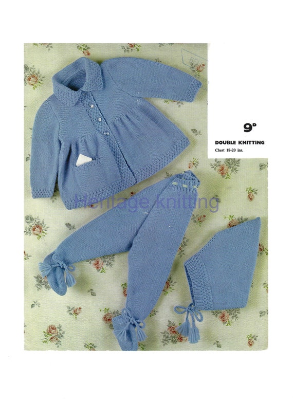 3c6ae75fa551 baby pram set dk knitting pattern 99p pdf