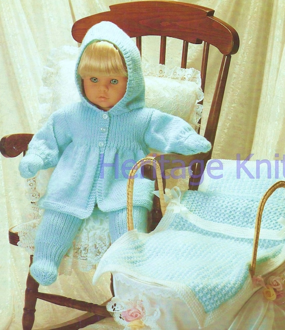 e314731c98a2 out door doll clothes set dk knitting pattern 99p