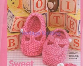baby booties dk knitting pattern 99p