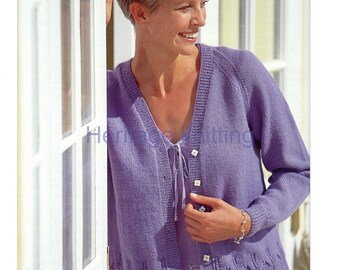 womens ladies cardigan 4 ply knitting pattern 99p pdf