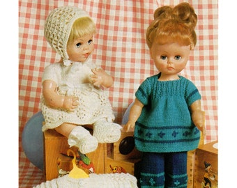 Dolls clothes 4 ply knitting pattern 99p pdf