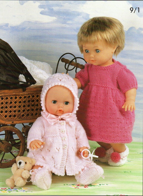 doll toy dk knitting pattern 99p