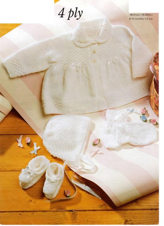 c5167b12d325 baby girls pram set 4 ply knitting pattern 99p pdf