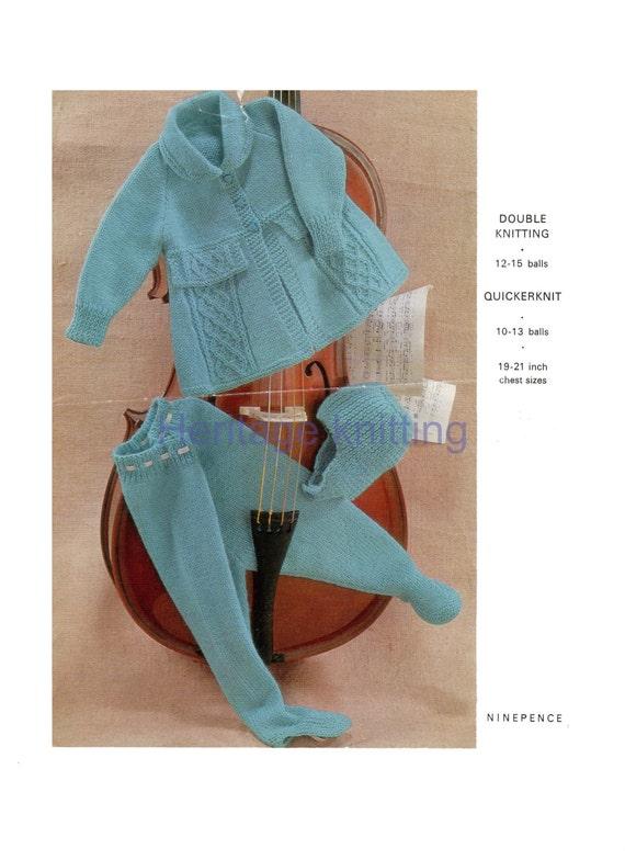0e31fbdc84df baby pram set Dk Knitting pattern 99p pdf