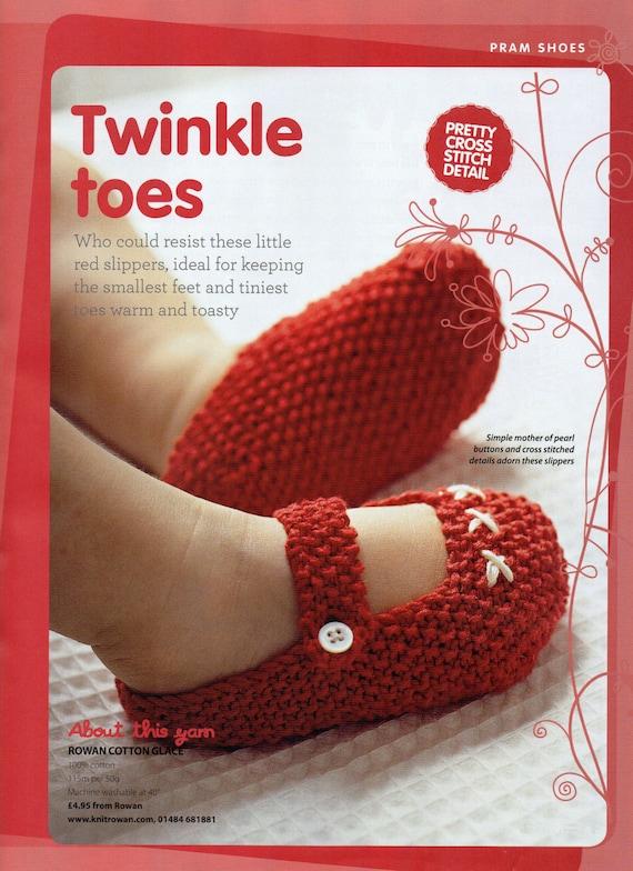 c266dc486a6e baby red pram shoes knitting pattern 99p