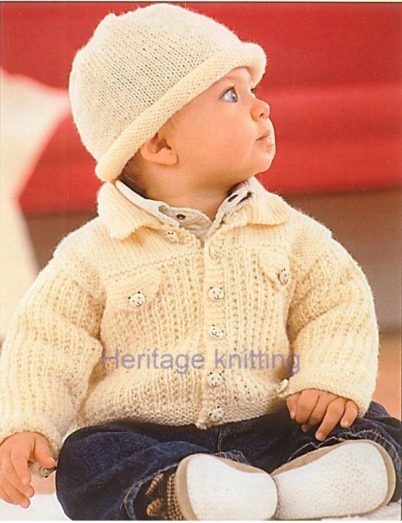 fd113771da09 baby childrens jacket and hat dk knitting pattern 99p pdf