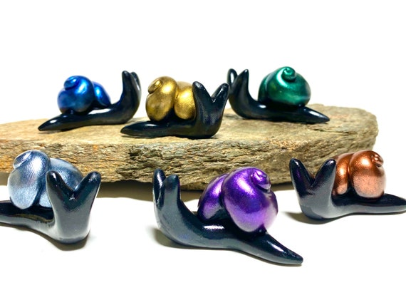 Set of 6 Shimmer Snails | Choose Your Colors