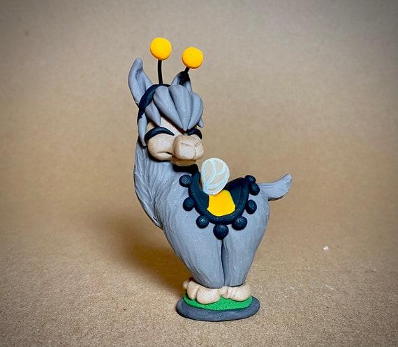 Halloween Llama | Llama Sculpture | Fall Llama Figurine | Llama in Bumblebee Costume