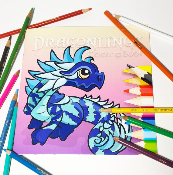 Dragonlings by Emizart Coloring Book | Favorite Pieces | Dragon Coloring Book | Fantasy Coloring Book