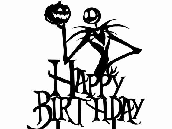 Happy Birthday Jack Skellington Nightmare Before Christmas Etsy