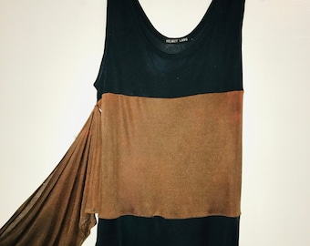 1997 COMME DES GARCONS brown draped dress with wrap waist