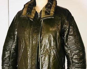 99d7d5b6a2b04 HELMUT LANG 1990 s original runway military green astro motorcycle flight  jacket very rare vintage