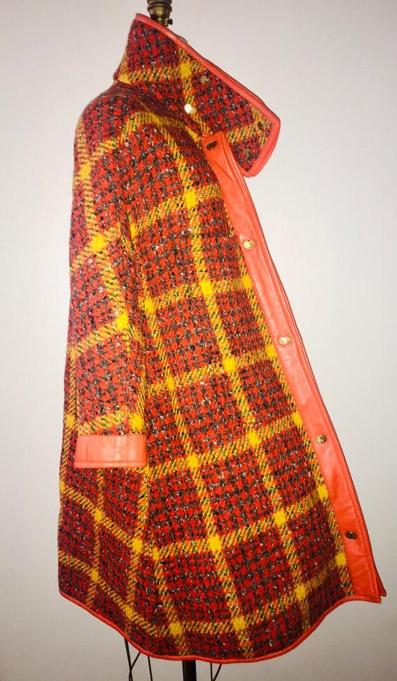 BONNIE CASHIN SILLS 1960s tweed leather swing coat
