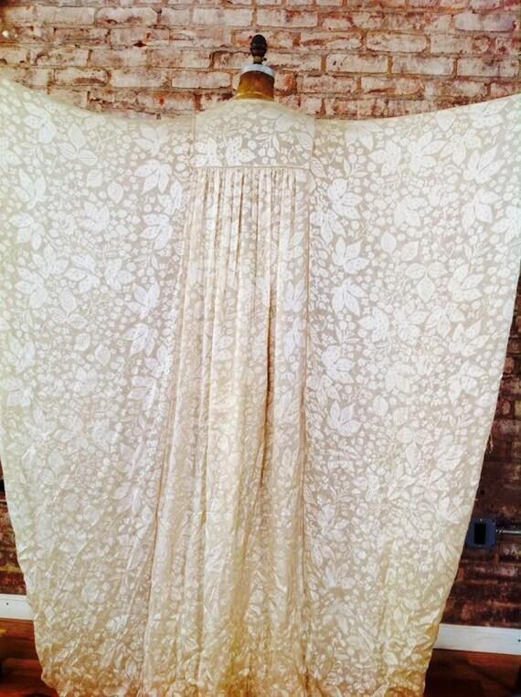 Thea Porter couture fine silk floral print weddin… - image 3