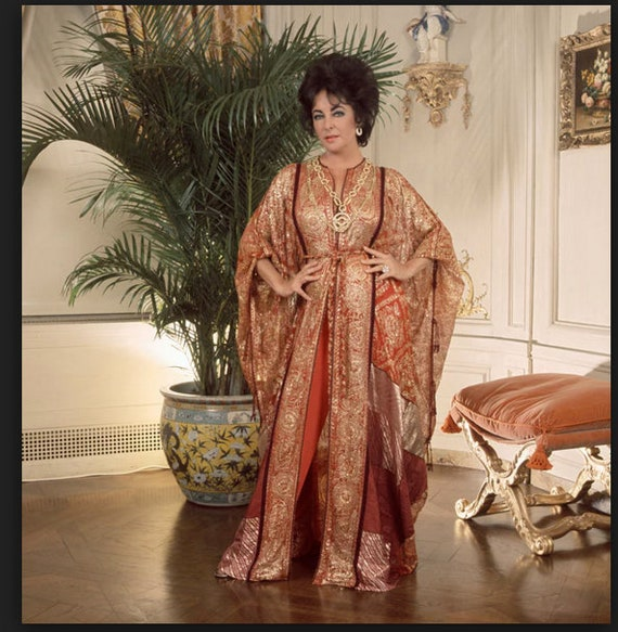 Thea Porter couture fine silk floral print weddin… - image 8