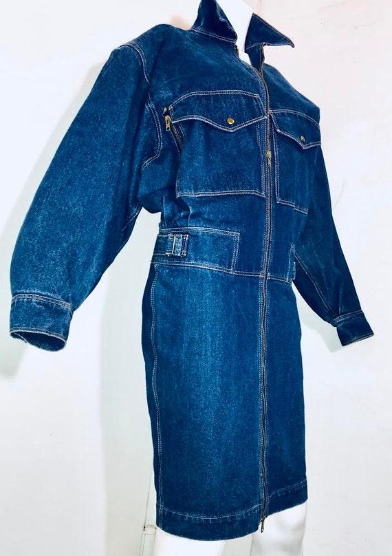 Azzedine ALAIA 1980's denim zipper dress - image 6