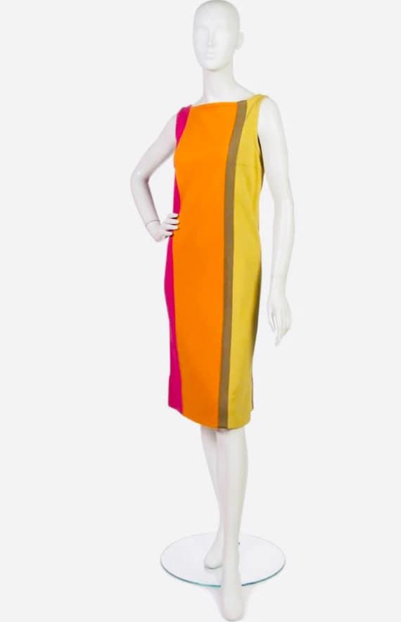 RUDI GERNREICH 1960s colorblock knit dress