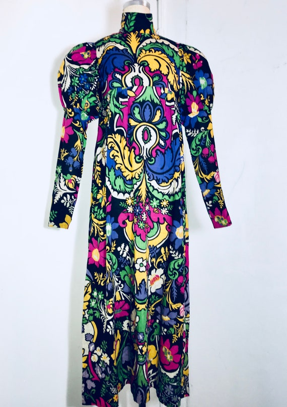 Thea Porter London 1960's psychedelic print Victor