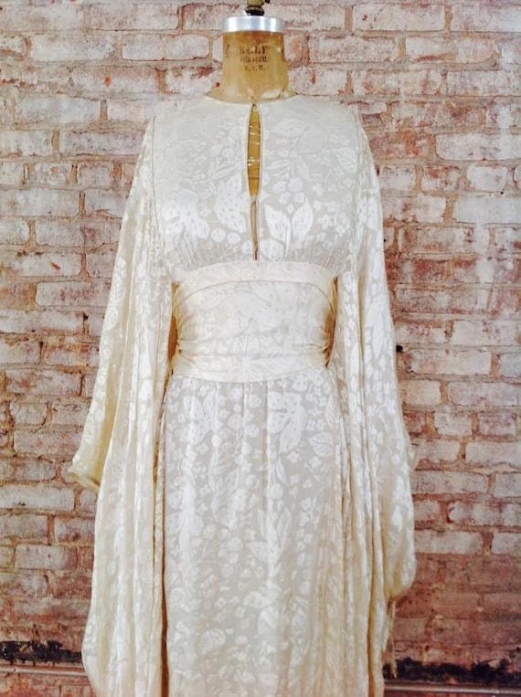 Thea Porter couture fine silk floral print weddin… - image 4