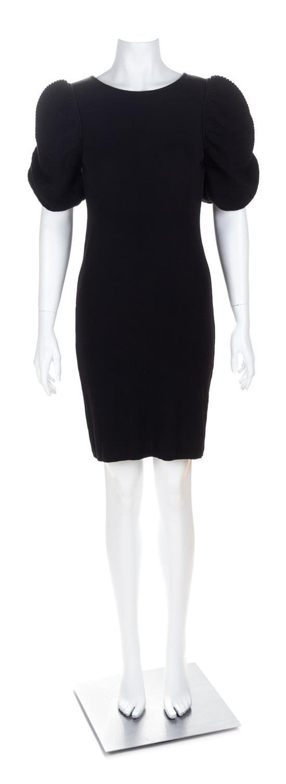 FENDI black puff sleeve dress size 40