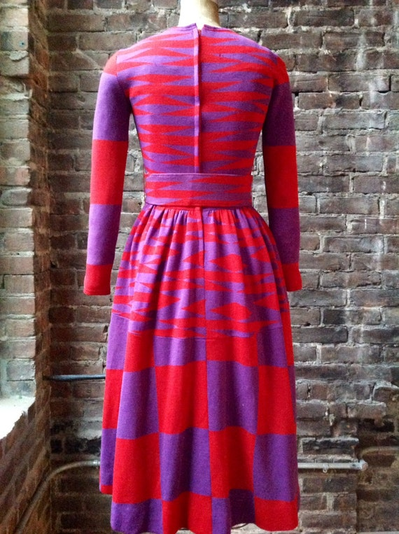 RUDI GERNREICH 1960 cube print mod dress in RUDI e