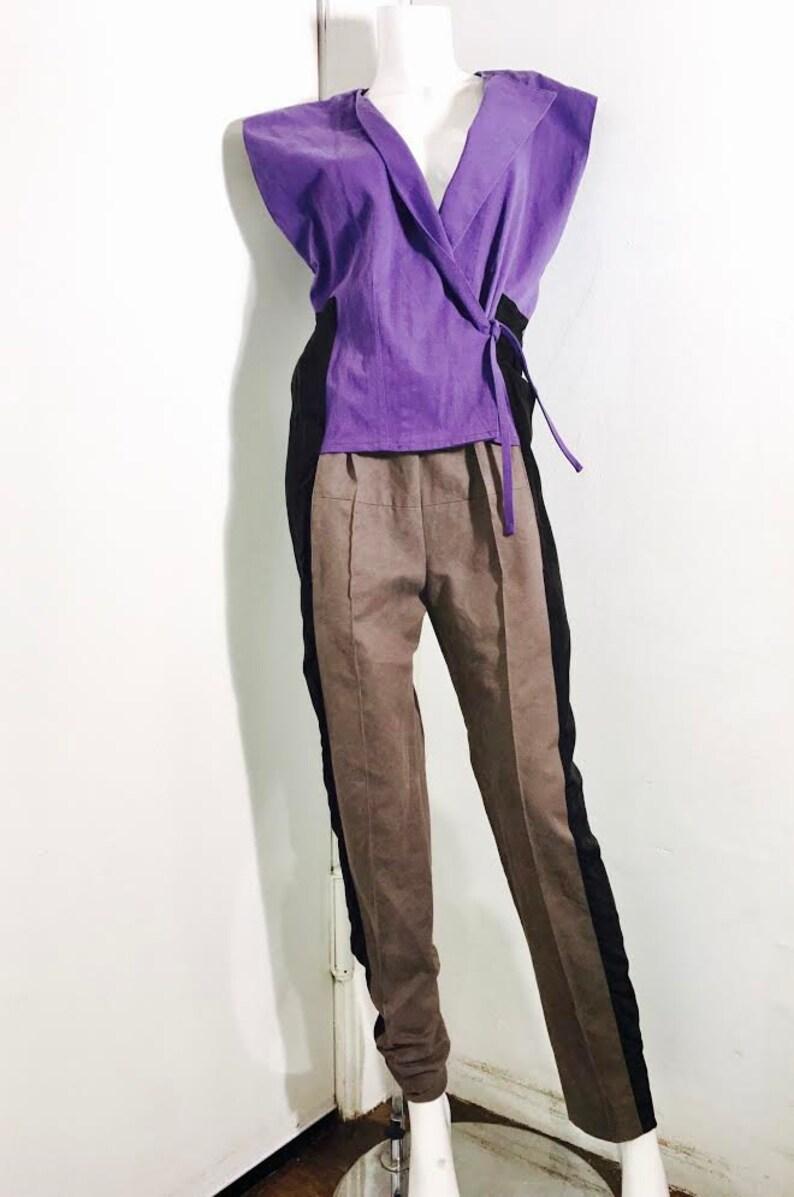 50e4e46a12ff Balenciaga paris nicolas ghesquiere color block jumpsuit etsy jpg 794x1197 Balenciaga  jumpsuit