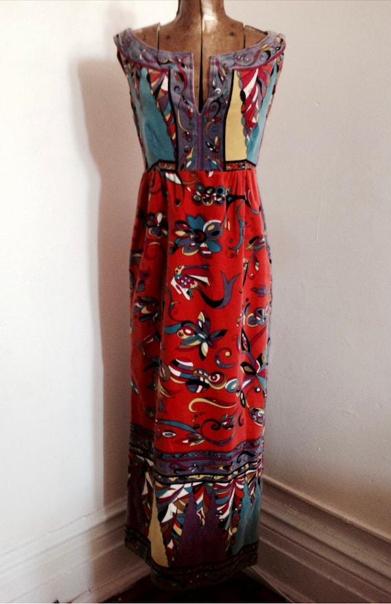 EMILIO PUCCI 1960's velvet intricate pattern mult… - image 4
