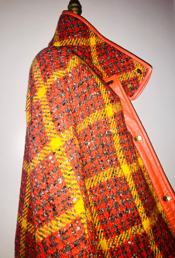 BONNIE CASHIN SILLS 1960s tweed leather swing coa… - image 2